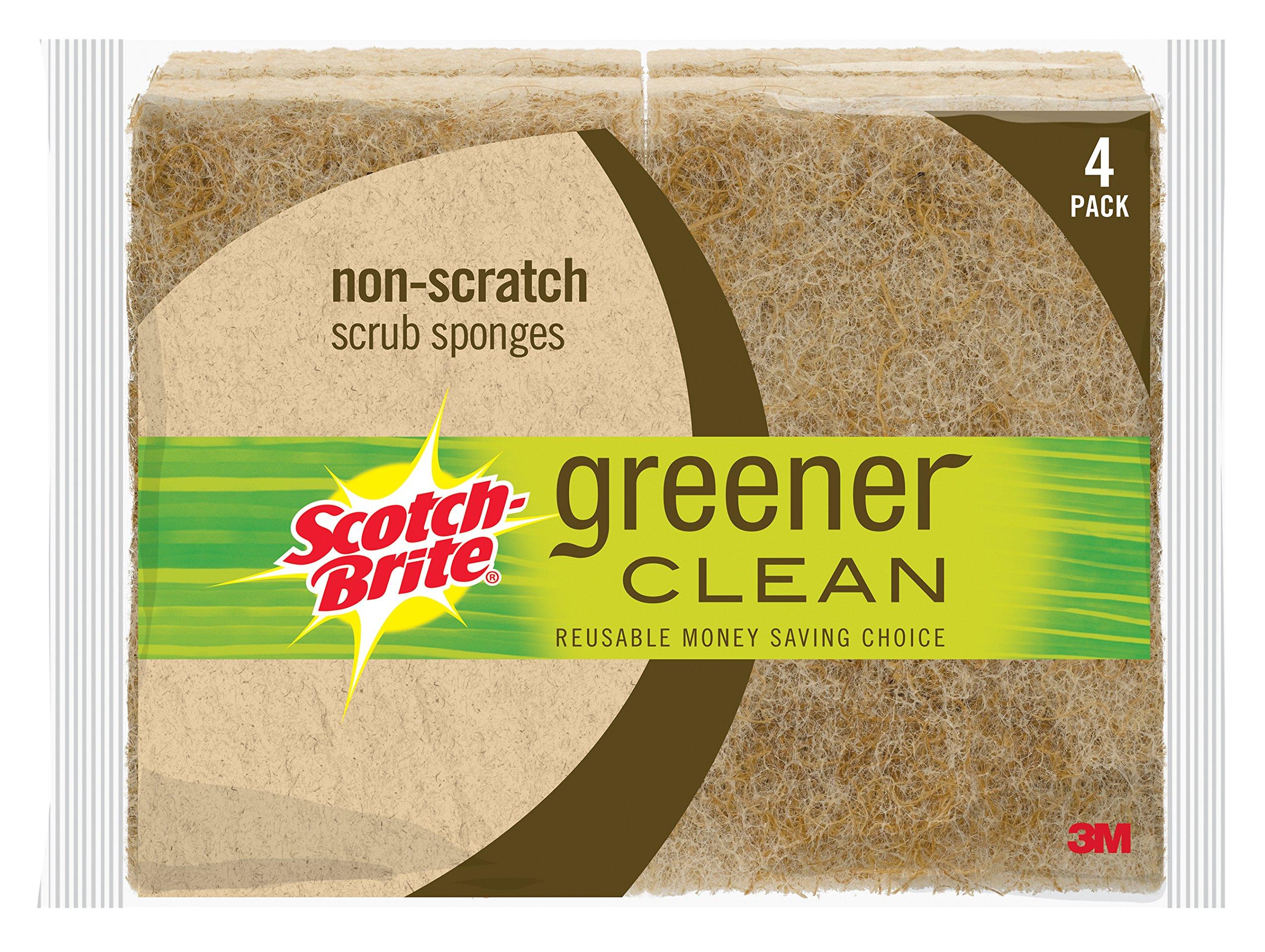 Scotch-Brite Greener Clean Non-Scratch Scrub Sponge, 4-Sponges/Pk, 12-Packs (48 Sponges Total) by Scotch-Brite (Image #2)