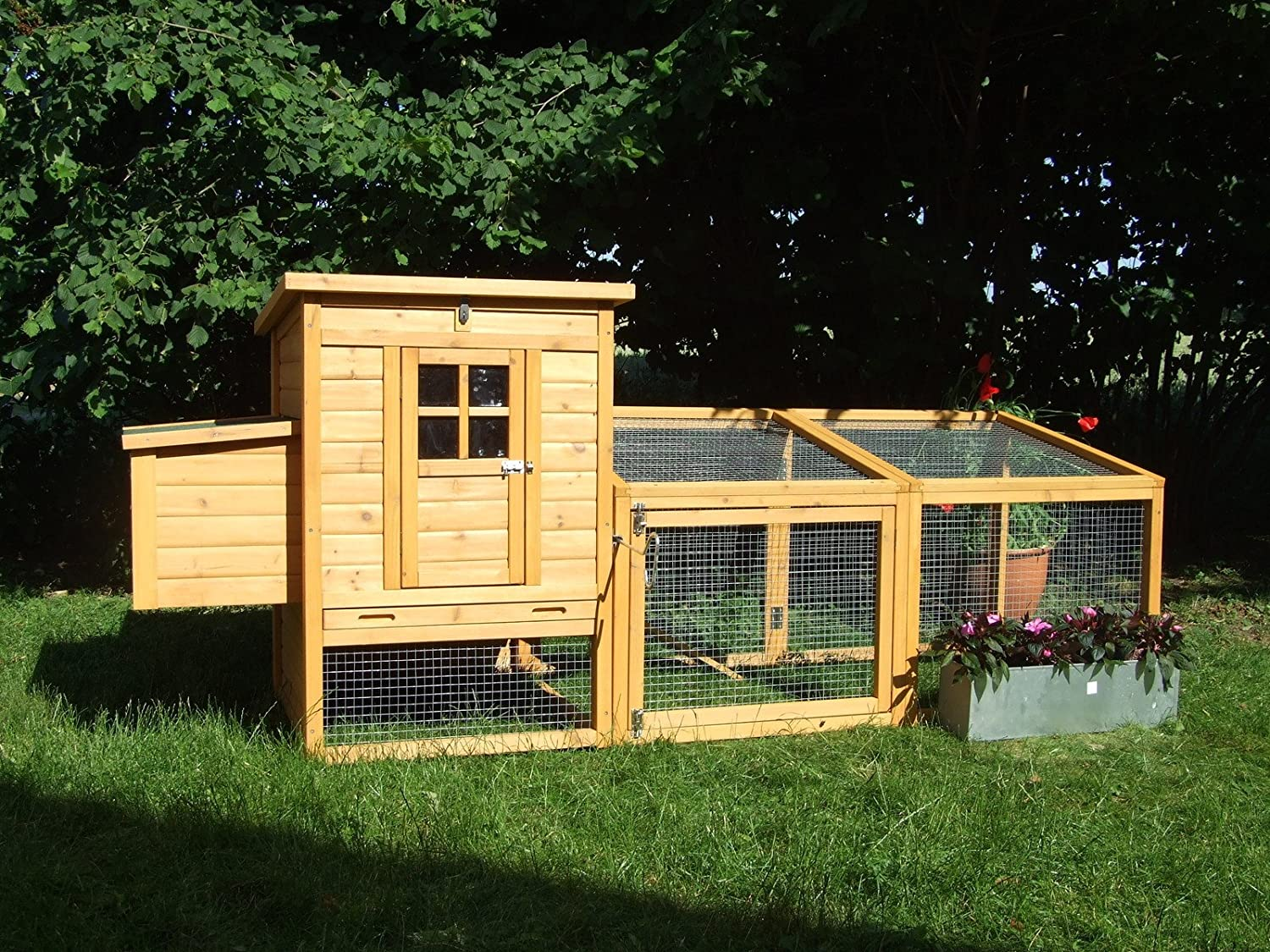 8FT CHICKEN COOP DUCK HEN POULTRY ARK HOUSE HUTCH Run COUP,+ Nest ** No  Deliveries To Postcodes BT GY HS IM IV JE KW PA PH ZE** No Deliveries To