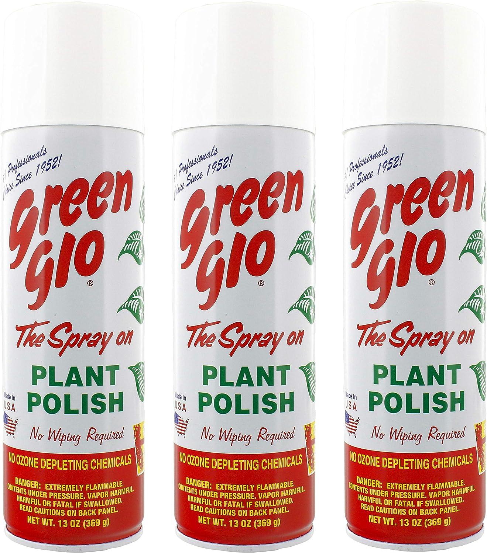 Green-Glo Plant Polish 13 oz (Pack of 3) - 20 fl oz Aerosol