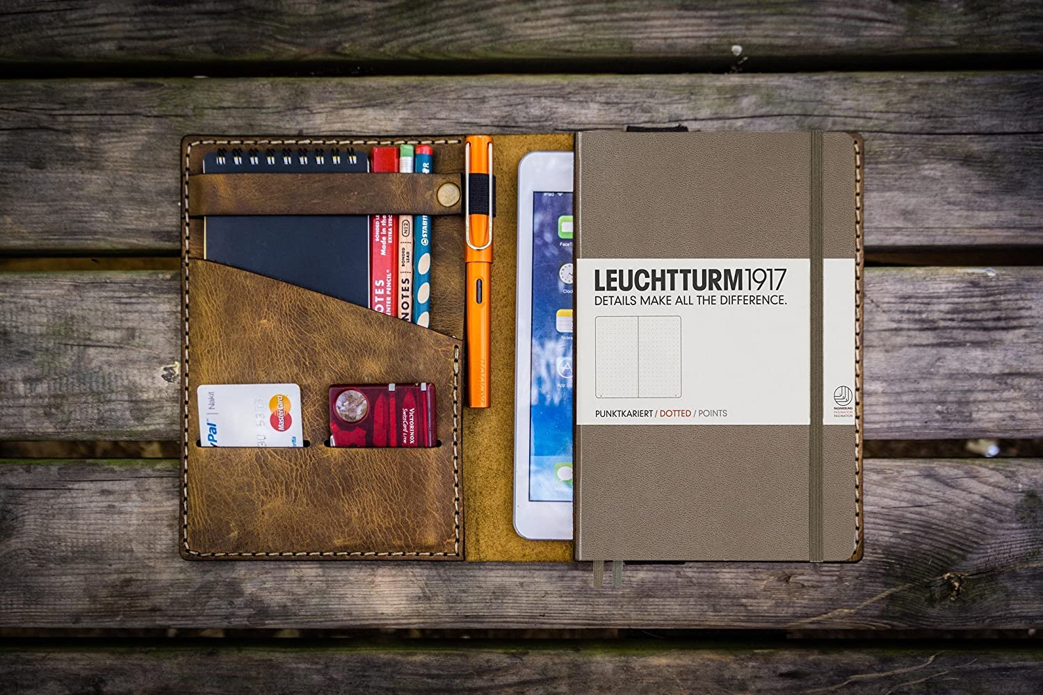 Leather Leuchtturm1917 A5 Notebook Cover - Crazy Horse Brown