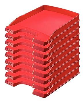 Leitz 52370025 De plástico Rojo - Bandeja de escritorio (De plástico, Rojo, A4