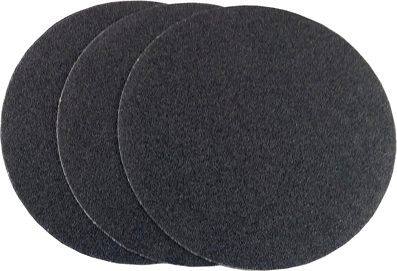 25 Pack, 24 Grit 9 Black Heavy Duty Hook and Loop Grip Sanding Discs