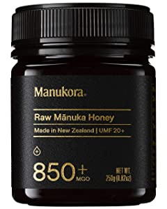 Manukora UMF 20+/MGO 850+ Raw Mānuka Honey (250g/8.8oz) Authentic Non-GMO New Zealand Honey, UMF & MGO Certified, Traceable from Hive to Hand