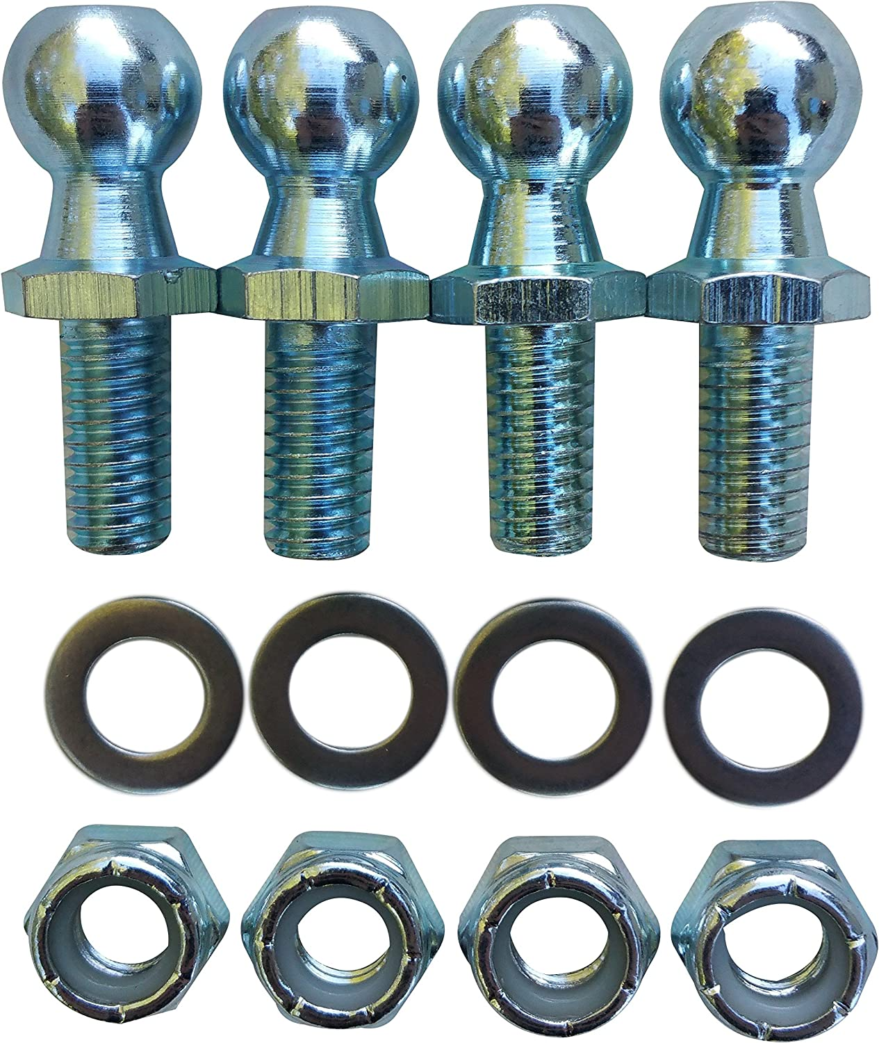 """(4 Pack) 13Mm Ball Studs mit Hardware - 5/16-18 Thread X 5/8"""" lange Shank - Gases Lift Support Strut Fitting"""
