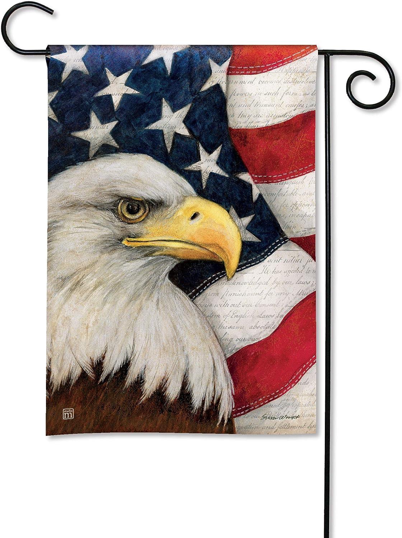 BreezeArt Studio M American Eagle Decorative Garden Flag – Premium Quality, 12.5 x 18 Inches