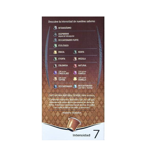 Café FORTALEZA - Cápsulas de Café con Aroma Toffee Compatibles con Nespresso - Pack 5 x 10 - Total 50 cápsulas.: Amazon.es: Alimentación y bebidas