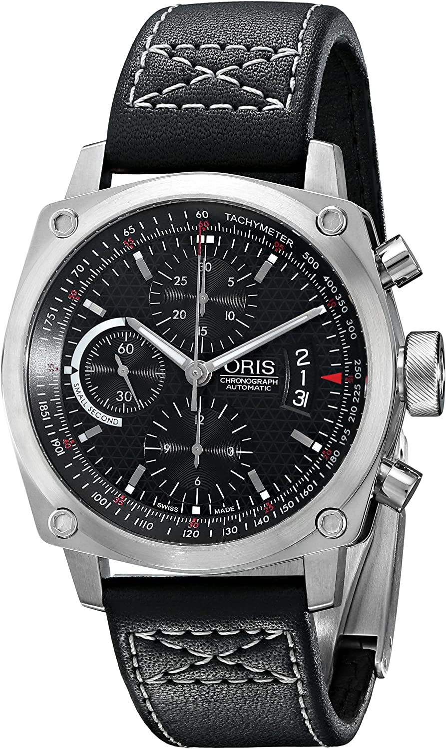 Oris Men's 4154LS BC4 Chronograph Stainless Steel Leather Strap Watch