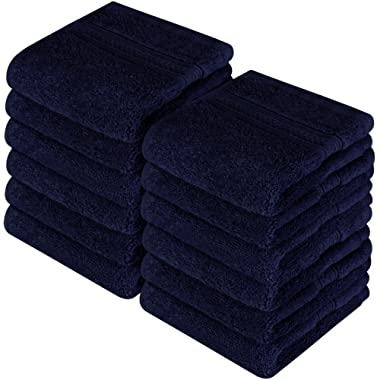Utopia Towels Premium 700 GSM Washcloths Towels Set (12 Pack, Navy, 12 x 12 Inches) Multi-purpose Extra Soft Fingertip Towels, Highly Absorbent Face Cloths, Machine Washable Sports, and Workout Towels