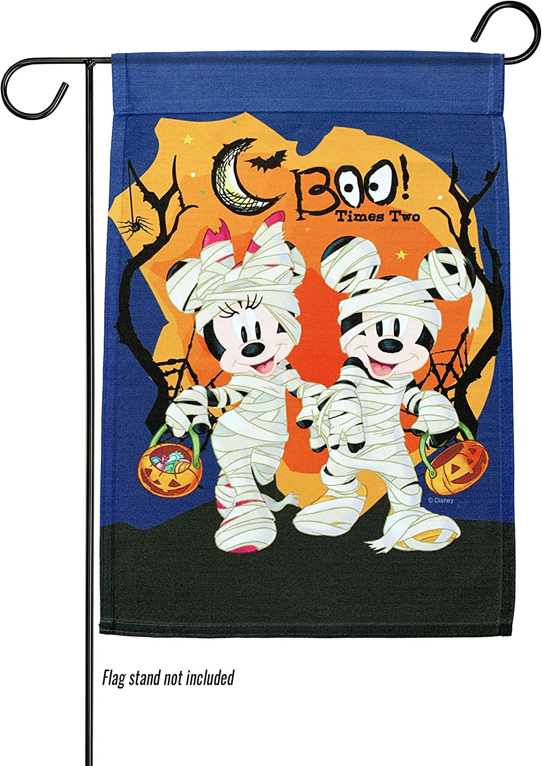 The Galway Company Halloween, Disney, Flag, Mickey, Boo Times Two Garden Flag, Flag Size: 12.5″ x 18″