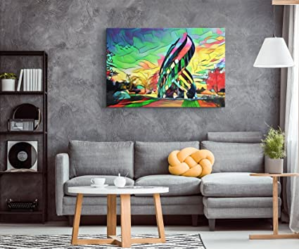 Amazon.com: temple in the meadow : vibrant colorful art on canvas