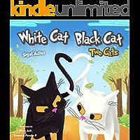 """WHITE CAT BLACK CAT "" (bedtime stories children's picture books Book 4)"