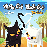 """""""WHITE CAT BLACK CAT """": two cats: Teach your kid patience"""