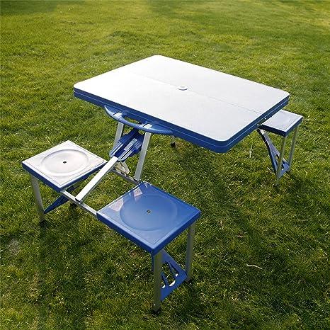 Amazon peach tree portable folding aluminum indoor outdoor peach tree portable folding aluminum indoor outdoor camping suitcase picnic table w4 seats watchthetrailerfo