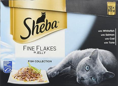 Sheba Bocaditos Finos de Pescado para Gato.12 bolsitas x 85 g. Pack de