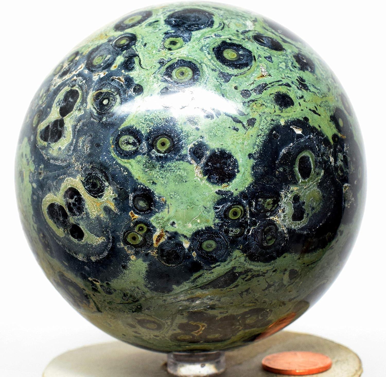 Stand Included Crocodile Jasper Sphere 3 Polished Kambaba Jasper Sphere
