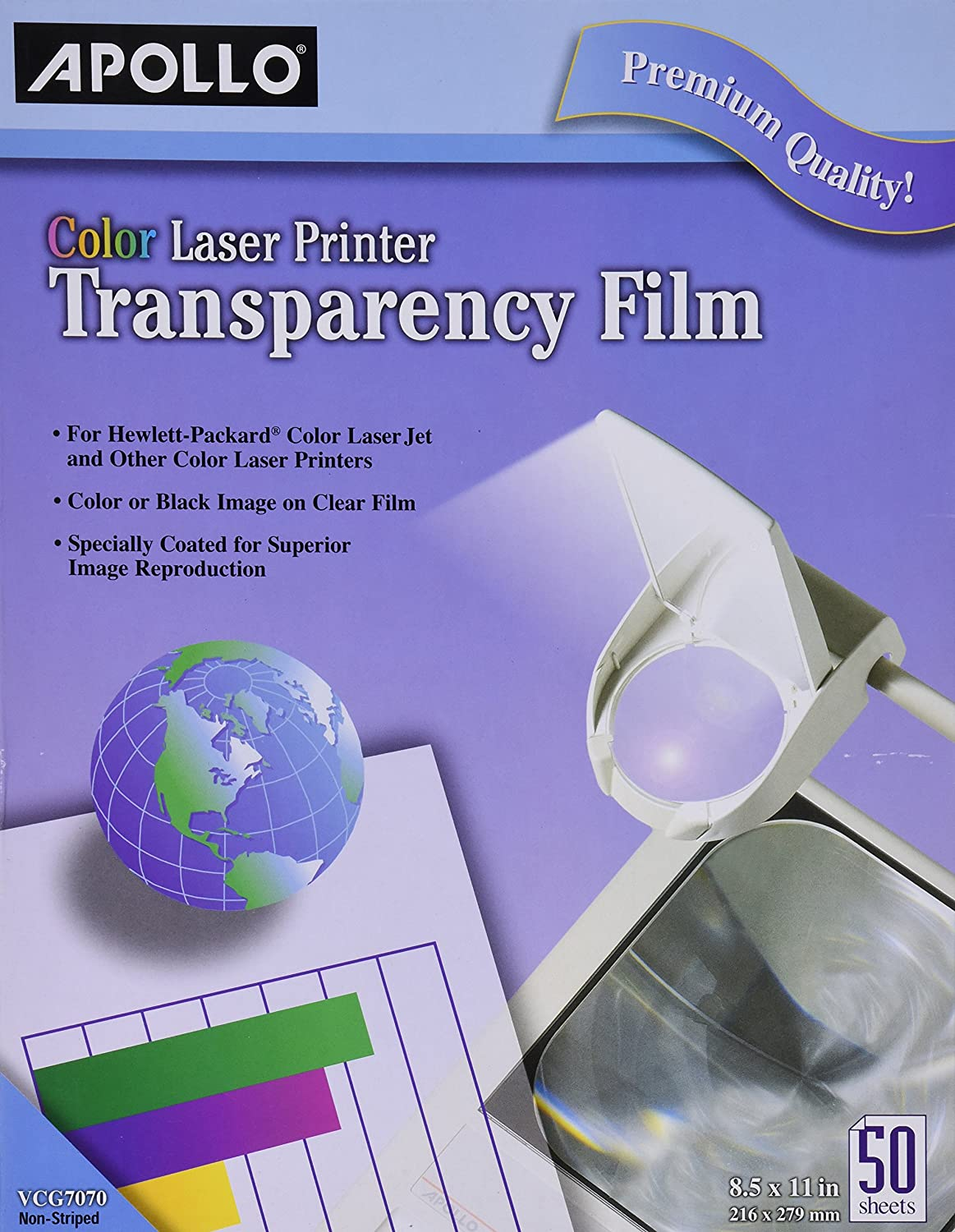 Amazon Apollo Laser Jet Printer And Copier Transparency Film 50 Sheets CG7060 Labels Office Products