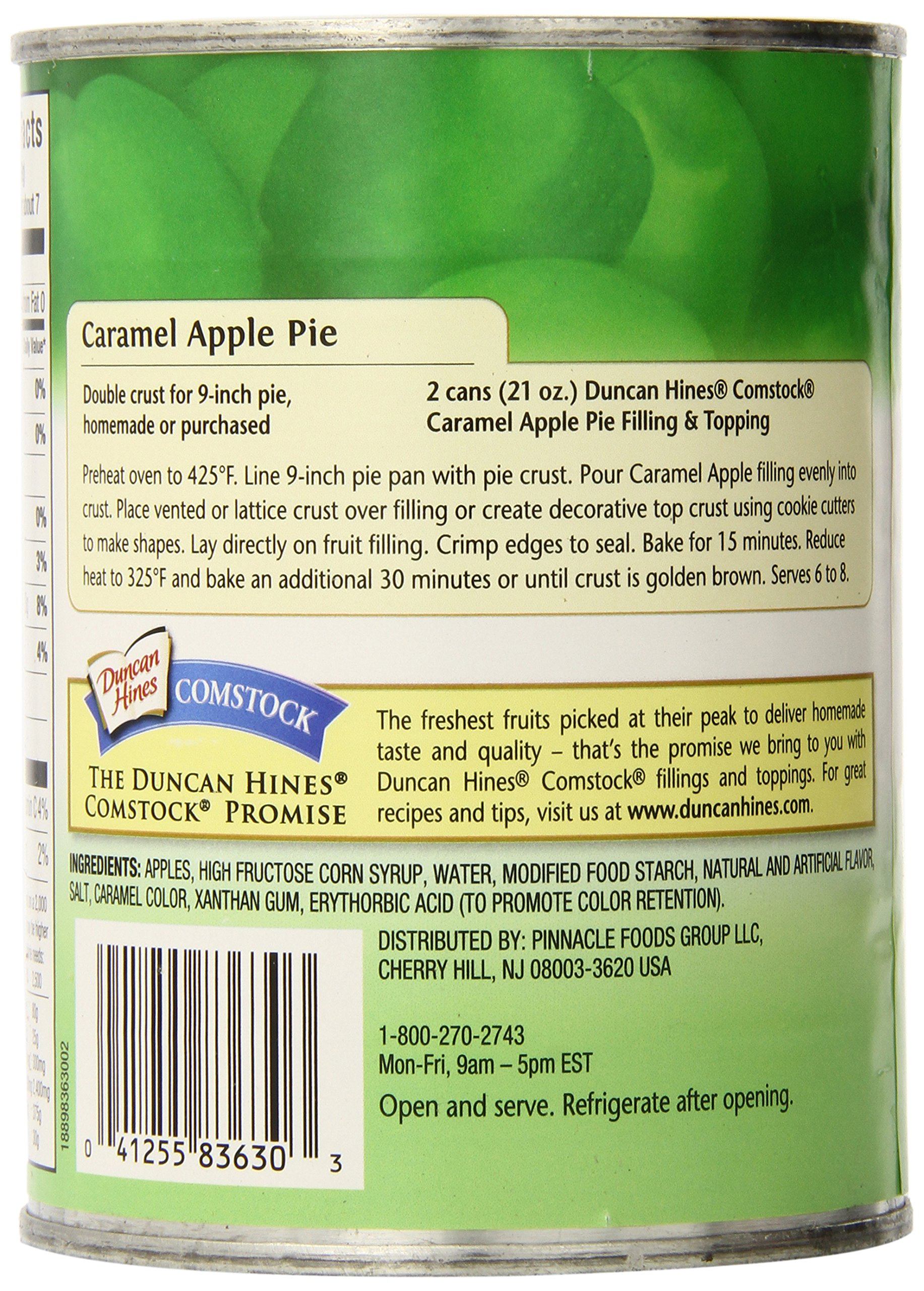 Comstock Original Pie Filling & Topping, Caramel Apple, 21 Ounce (Pack of 12) by Comstock (Image #4)