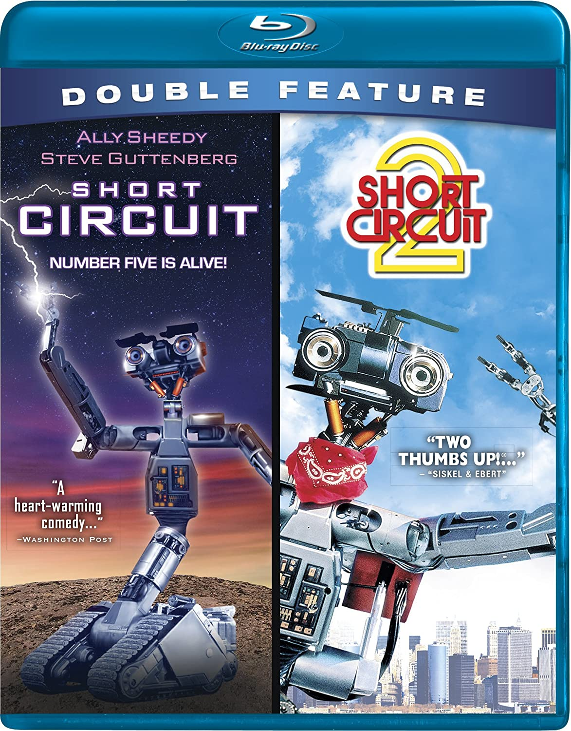 Short Circuit 2 Blu Ray Ally Sheedy Number 5 Is Alive Johnny From The Movie Fisher Stevens Michael Mckean Steve Guttenberg John Badham Kenneth Johnson Movies