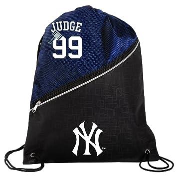 New York Yankees Aaron Judge 99 Official High End Diagonal Drawstring Backpack Gym Bag
