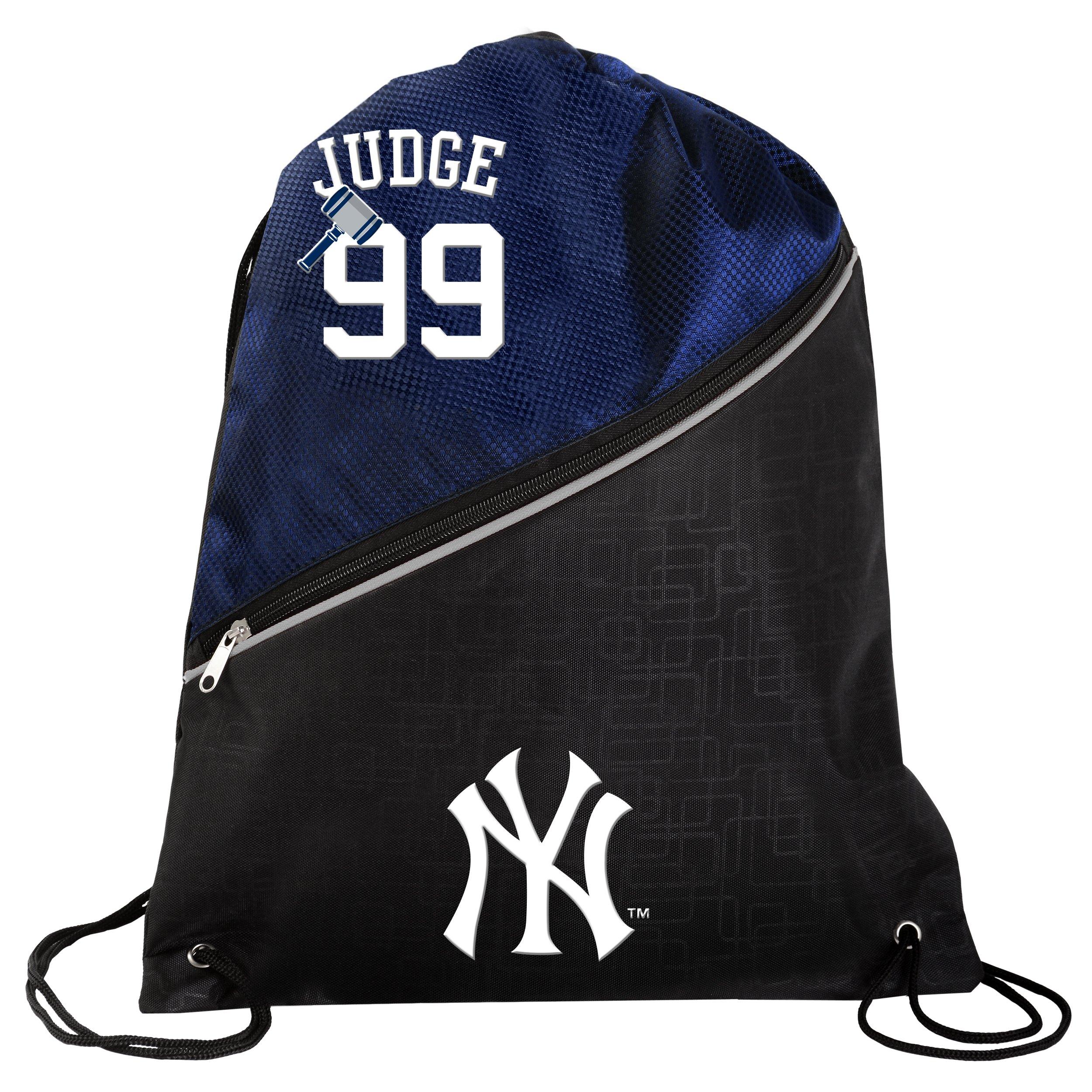 FOCO New York Yankees Aaron Judge #99 Official High End Diagonal Drawstring Backpack Gym Bag