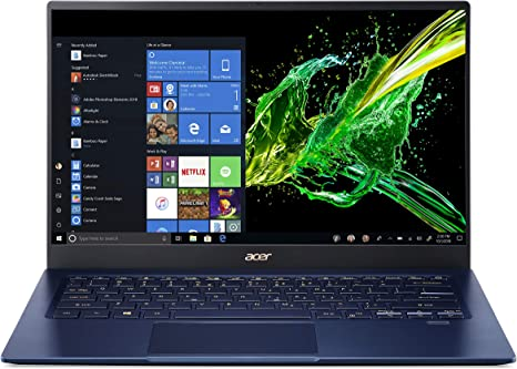 "Amazon.com: Acer Swift 5 Ultra-Thin & Lightweight Laptop, 14"" Full HD IPS  Touch, 10th Gen Intel Core i5-1035G1, 8GB LPDDR4, 512GB PCIe NVMe SSD, FP  Reader, Wi-Fi 6, Back-lit Keyboard, Windows 10,"
