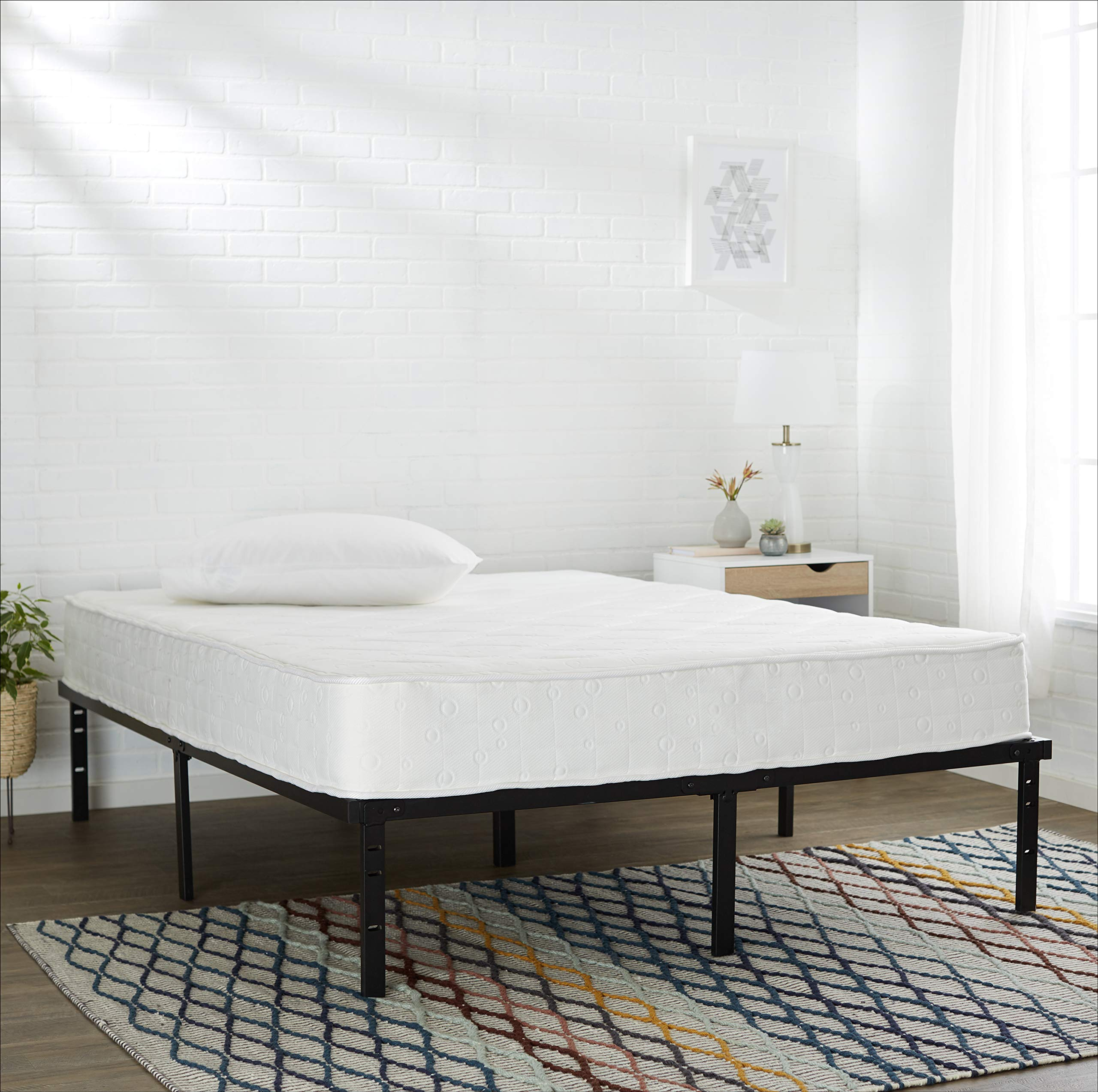 AmazonBasics Heavy Duty Non-Slip Bed Frame with Steel Slats, Tools-free Assembly - 14-Inch, Queen by AmazonBasics