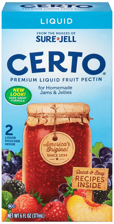 Amazon Sure Jell Certo Premium Liquid Fruit Pectin 6 Fl Oz