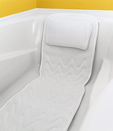 Amazon.com : Full Body Bath Pillow & Mat - Non-Slip, Plus Konjac ...