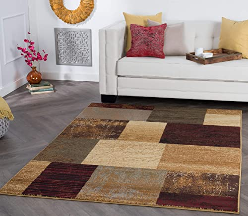 Tayse Augusta Multi-Color 9×13 Rectangle Area Rug