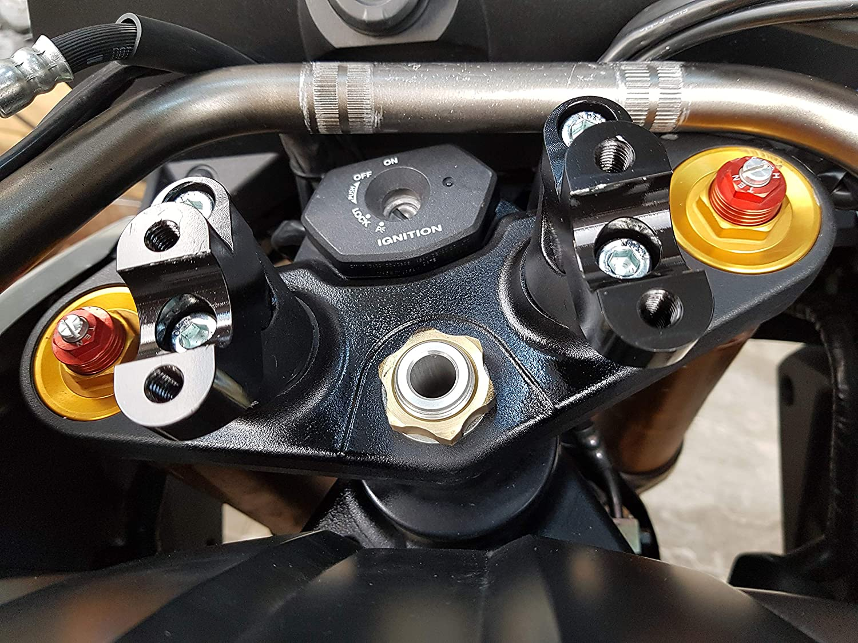 Aluminum Handlebar Fat Bar Mount Clamps Riser For Honda XL1000V Varadero Black