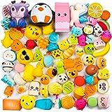 WATINC Random 50 Pcs Squishies Cream Scented Slow Rising Kawaii Simulation Lovely Toy Jumbo Medium Mini Soft Squishies, Phone Straps (WT-Squishy 50Pcs)