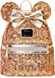 LOUNGEFLY X DISNEY Gold Sequin Minnie Mini Backpack Holiday Gifts for Her PRE-ORDER