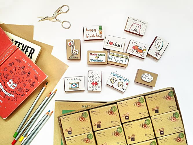 Amazon matchbox greeting cards assorted all occasion box set 12 matchbox greeting cards assorted all occasion box set 12 fun alternative to greeting cards m4hsunfo