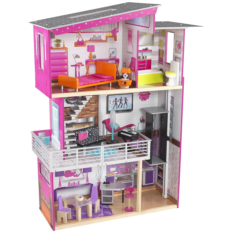 Barbie Haus Holz mit Licht und Soundeffekten - Kidkraft Puppenhaus Luxury