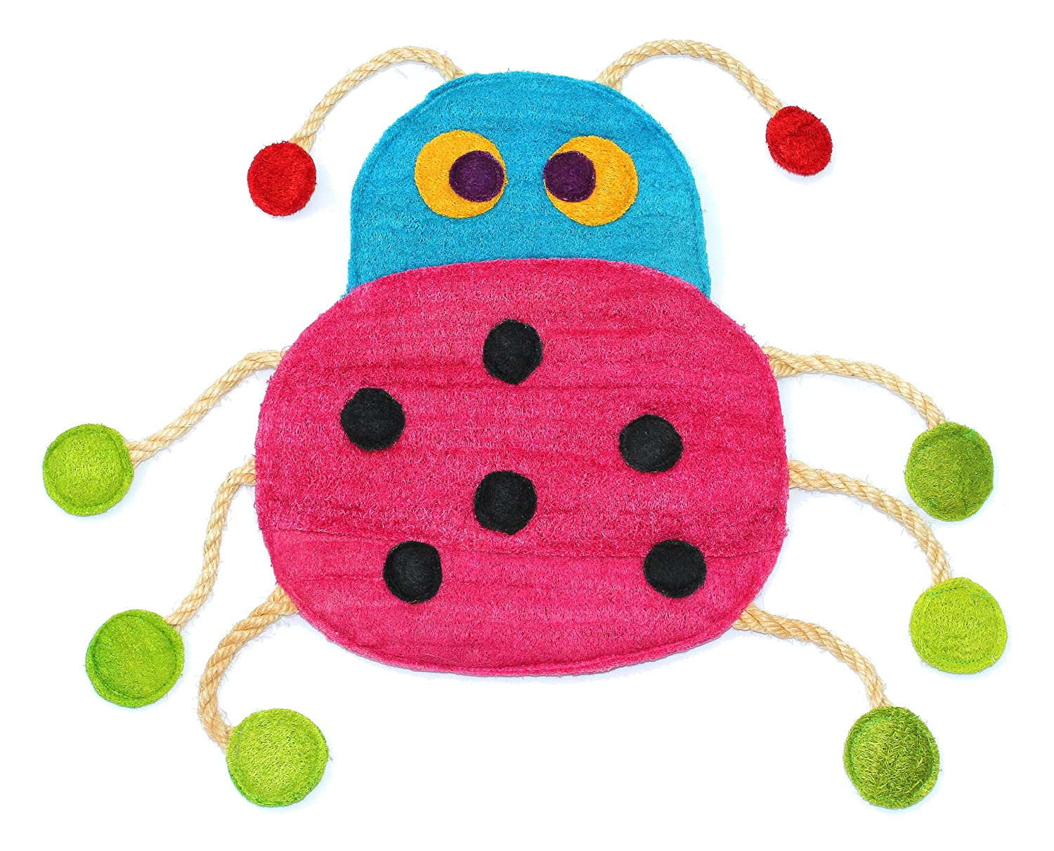Eco-Loofah Original Play and Scratch Station Pet Toy, Ladybug ...