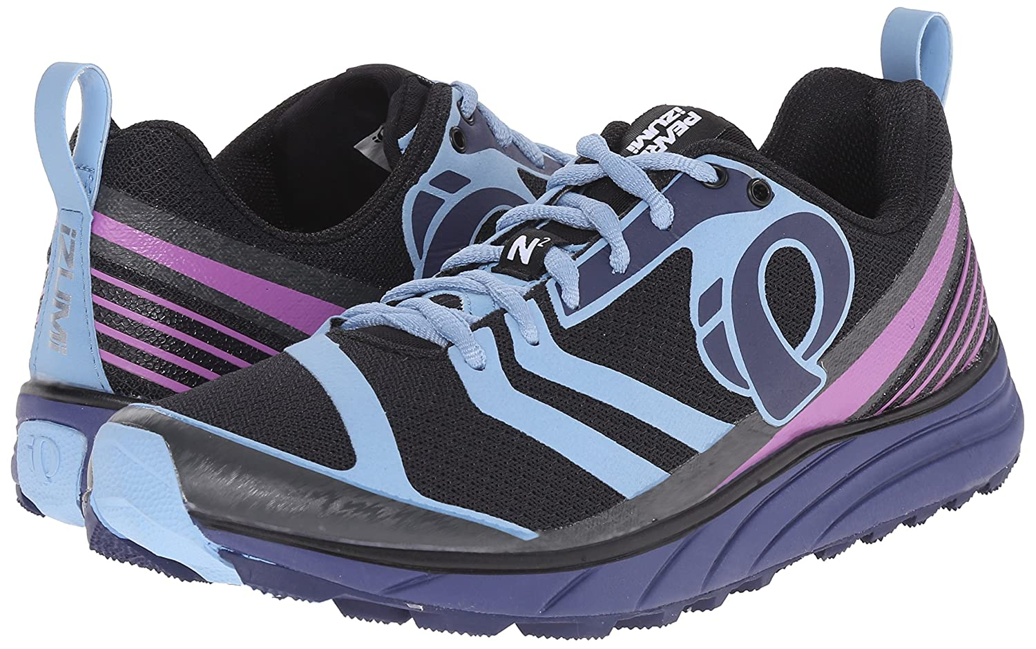 Pearl iZUMi Women's EM Trail N2 v2 Running Shoe B011SGCH28 5 B(M) US|Black/Deep Indigo