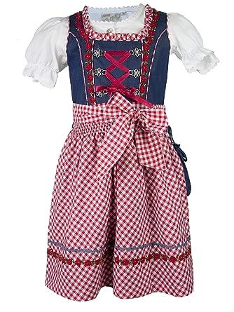 9a49e0d60a0237 Lekra Kinderdirndl Martha (134, jeansblau rot): Amazon.de: Bekleidung