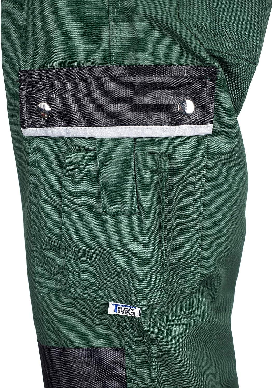 XS-7XL Pantalons de S/écurit/é V/êtements de Travail pour Les Jardiniers 52 avec Genouill/ère Int/égr/ée TMG/®/Pantalon de Travail pour Hommes Vert