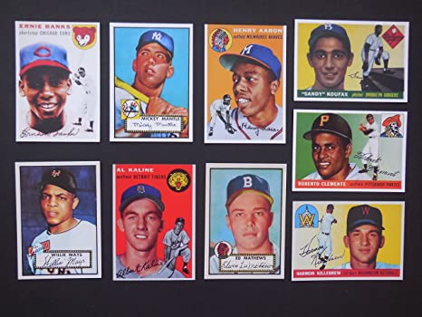 Ultimate 1950s 9 Card Topps Baseball Rookie Reprint Lot