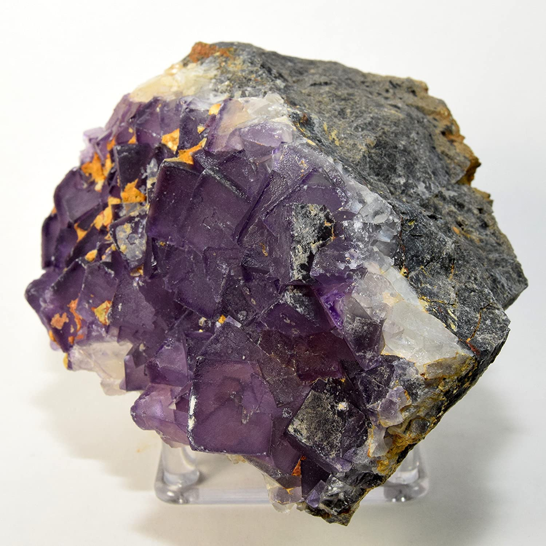 485g Natural Amethyst Purple Fluorite Cluster,Fluorite Cube,Fluorite Rock Stone,Cubic Fluorite On Rock,Mineral Specimens C663