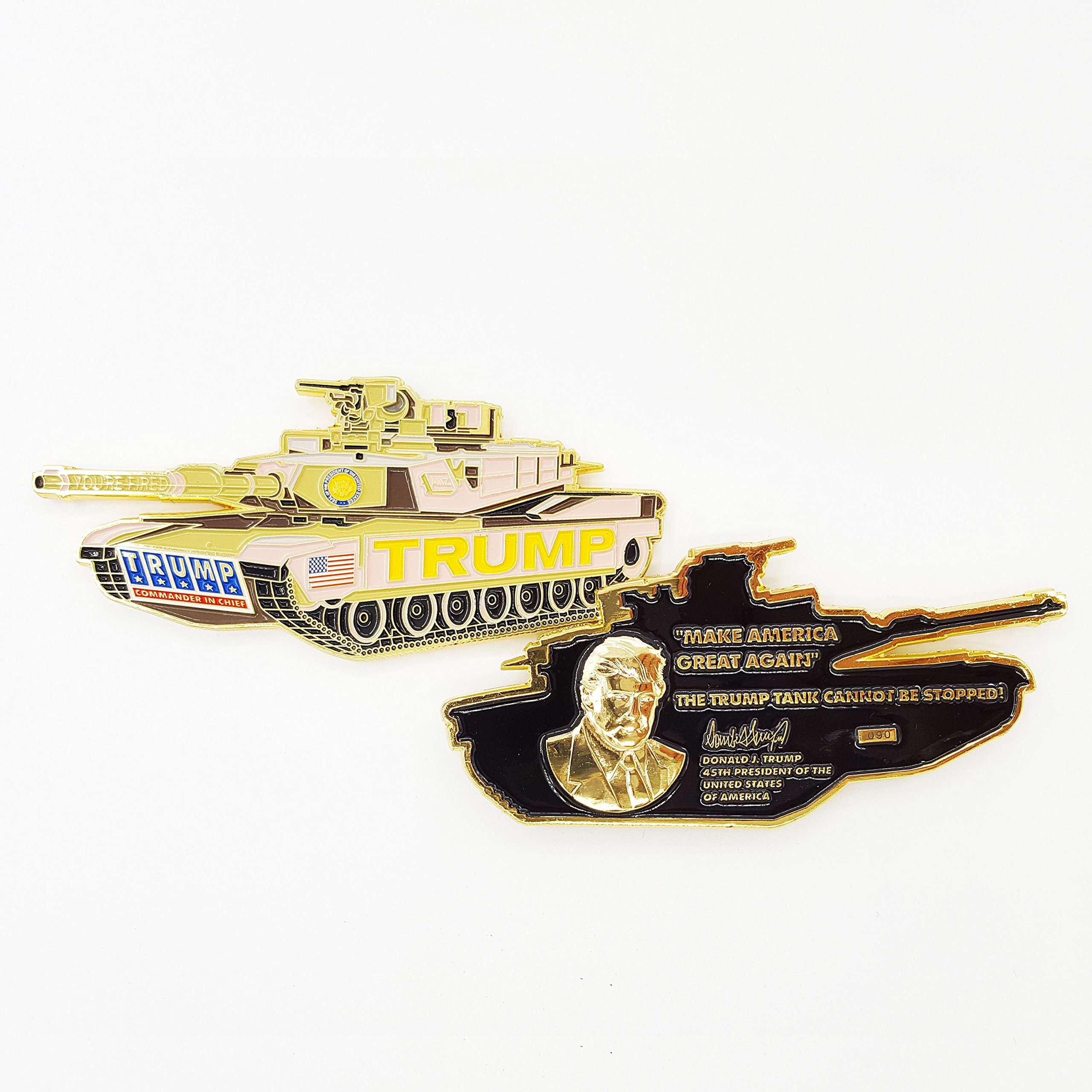 President Trump Coin, ''The Trump (M1 Abrams) Tank Cannot Be Stopped!'' - ''Make America Great Again'' Commander in Chief Challenge Coin