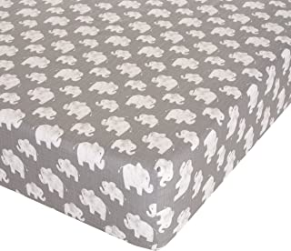 """product image for Glenna Jean Elephant Herd - Stone Crib Sheet Fitted 28""""x52""""x8"""" Nursery Standard"""