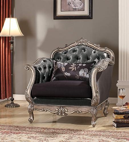 ACME Chantelle Antique Platinum Chair