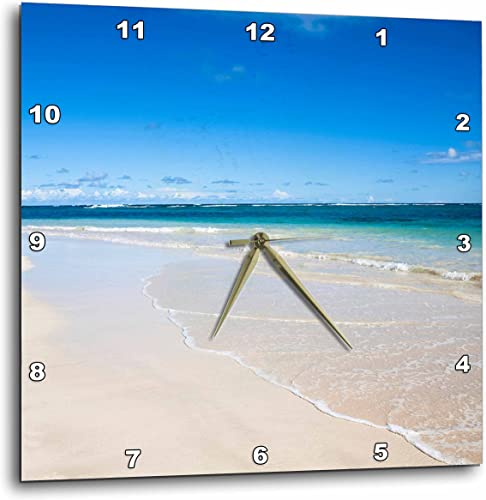 3dRose Vieques, Puerto Rico, White Sands of a Tropical beach-CA27 IST0052-Inti St. Clair-Wall Clock, 13-inch DPP_70143_2