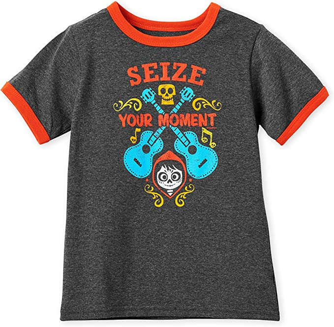 Disney Coco Seize Your Moment Ringer T-Shirt for Kids Multi