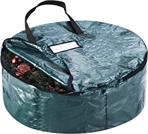 """Elf Stor 83-DT5041 Deluxe Green Holiday Christmas Storage Bag for 30"""" Inch Wreaths"""