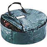 "Elf Stor Premium Green Holiday Christmas Wreath Storage Bag For 24"" Inch Wreaths"