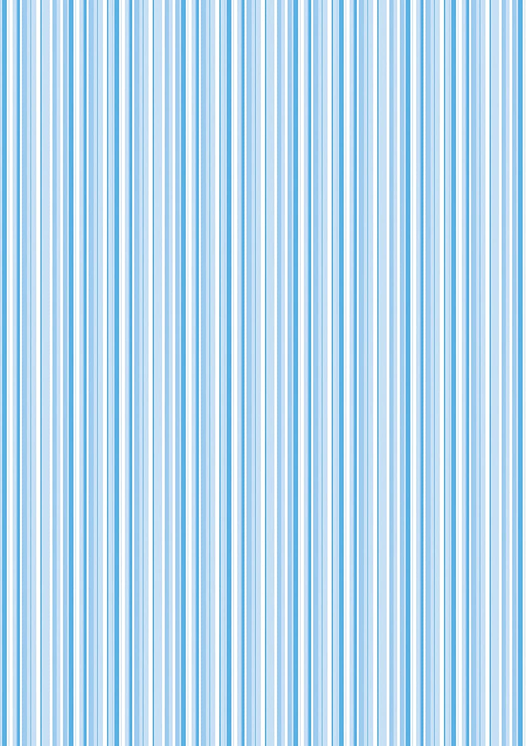 1 X A4 Printed Blue And White Striped Wallpaper Decor Icing Sheet