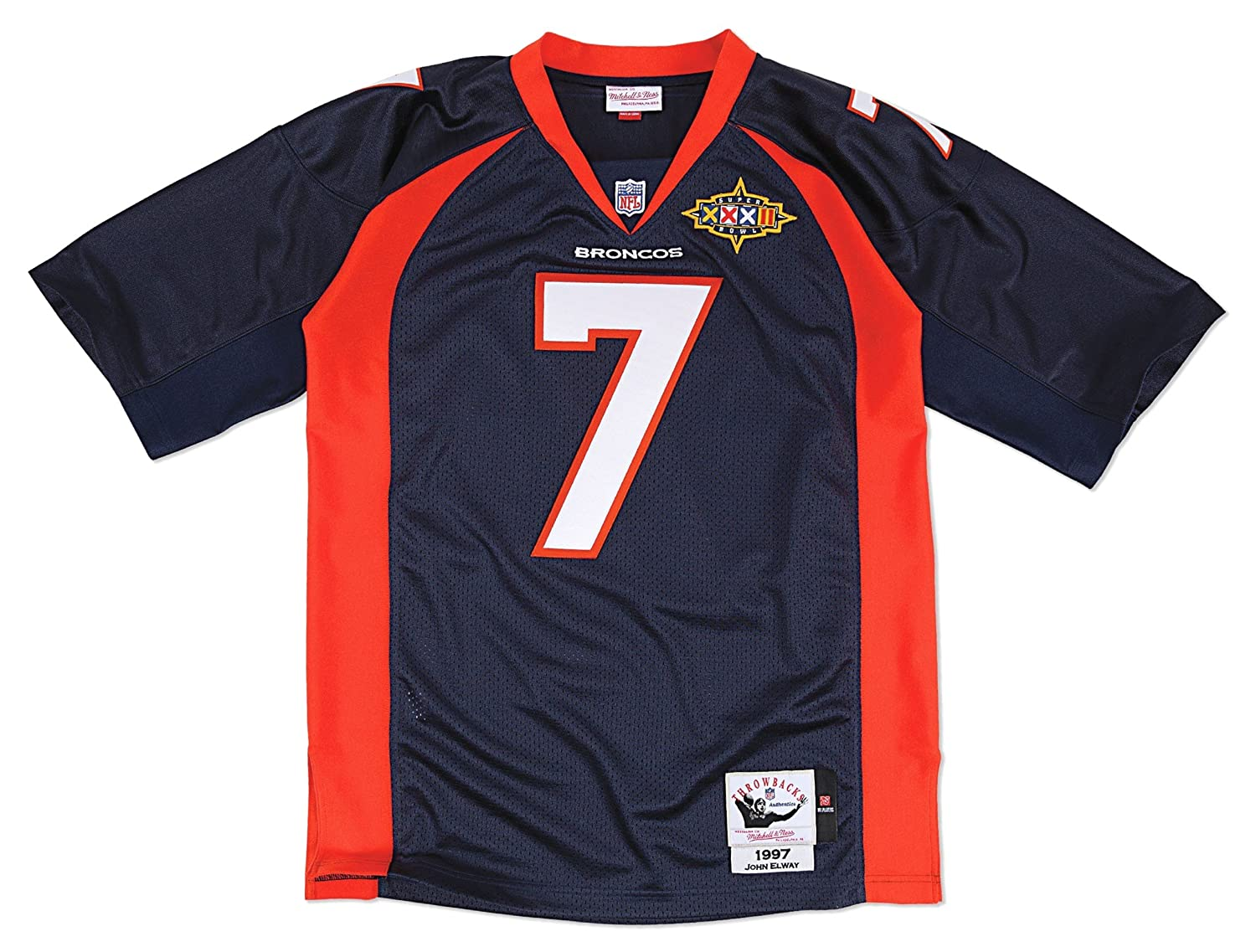 1997 John Elway Denver Broncos Mitchell & NessホームAuthentic Jerseyメンズ XXL/52  B00UGHGYUM