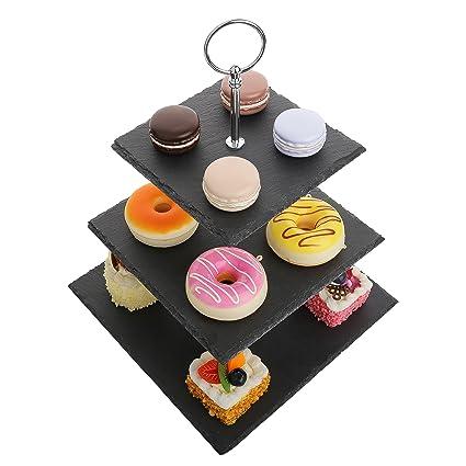 Gâteau timePrésentoir 3 Mariage Dessert Soirée En Assiette Étages Cupcakes MalacasaSérie À Pour Stand Support Fête Sweet Ardoise BdeoxWrC